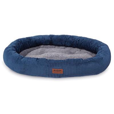 Kazoo Gumnut Plush Navy Bed XLarge For Dogs