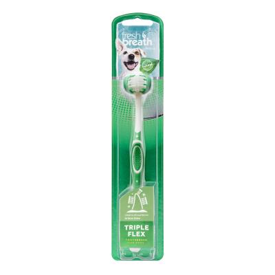 Tropiclean Fresh Breath Triple Flex Tooth Brush Large For Dogs