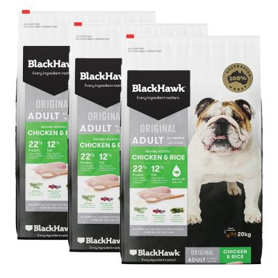 Black Hawk Chicken And Rice Adult Dry Dog Food 60kg