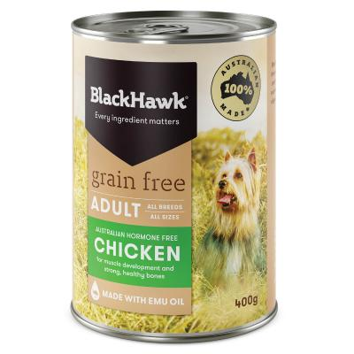 Black Hawk Grain Free Chicken Adult Canned Wet Dog Food 400gm X 12