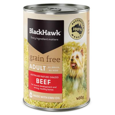Black Hawk Grain Free Beef Adult Canned Wet Dog Food 400gm X 12