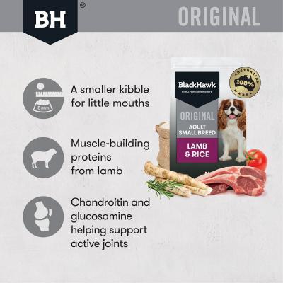 Black Hawk Lamb And Rice Small Breed Adult Dry Dog Food 10kg