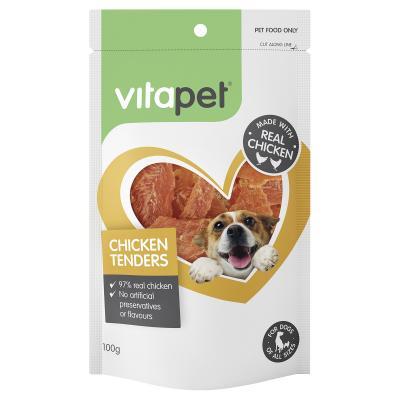Vitapet Jerhigh Chicken Tenders Treats For Dogs 100gm