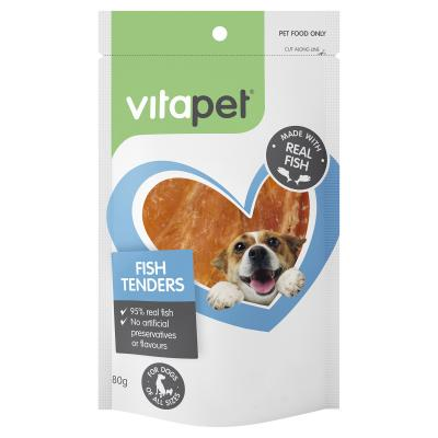 Vitapet Jerhigh Fish Tenders Treats For Dogs 80gm