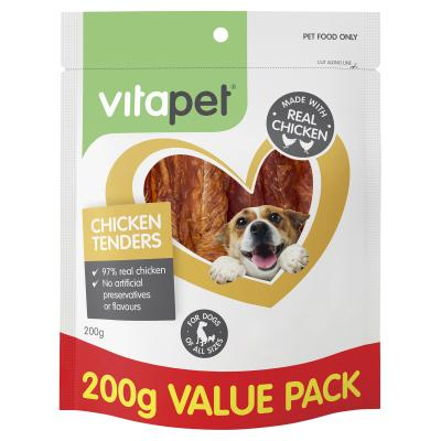 Vitapet Jerhigh Chicken Tenders Treats For Dogs 200gm