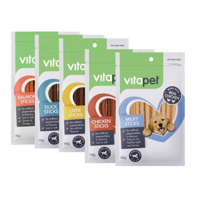 Vitapet Jerhigh Five Flavour Stick Treats Pack For Dogs 460g