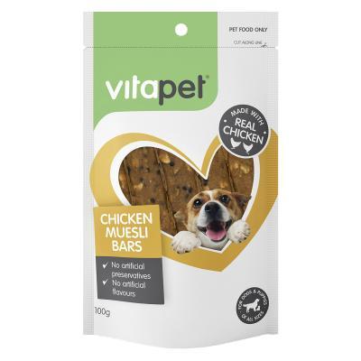 Vitapet Chicken Muesli Bars Treats For Dogs 100gm