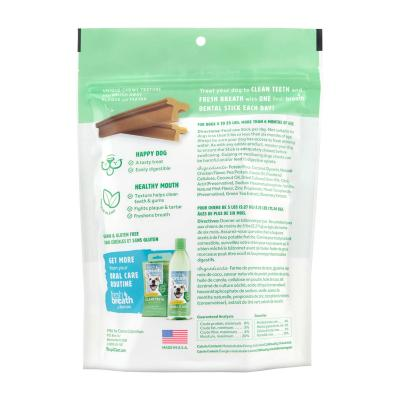 Tropiclean Fresh Breath Dental Sticks Vanilla Mint Small For Dogs 2.5-11.5kg 12 Pack 227gm