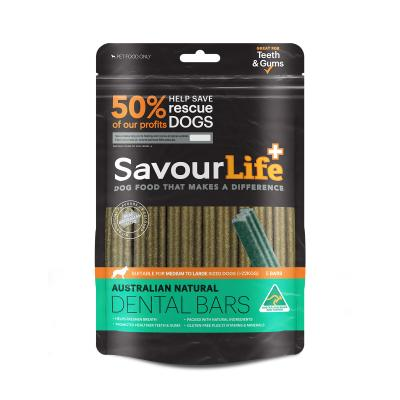 SavourLife Dental Bars With Mint and Parsely Treats For Medium And Large Dogs 5 Bars