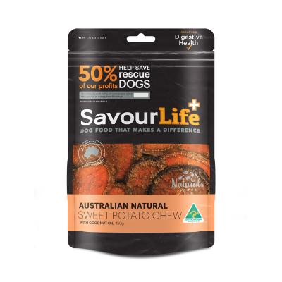 SavourLife Sweet Potato Chew With Coconut Treats For Dogs 150gm
