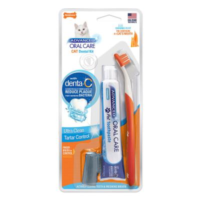 Nylabone Advanced Oral Care Toothbrush And Toothpaste Dental Kit For Cats