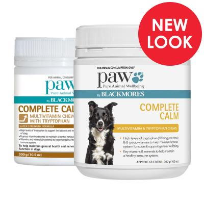 PAW By Blackmores Complete Calm Multivitamin And Tryptophan Chews For Dogs 600gm (2 x 300gm)
