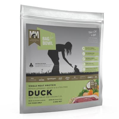 Meals for Meows MfM Single Meat Protein Grain Free Duck Adult Dry Cat Food 2.5Kg