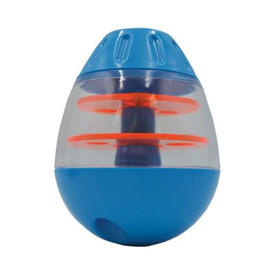 Scream Tip And Roll Treat Dispenser Loud Blue Orange Toy For Dogs