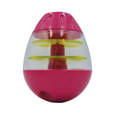 Scream Tip And Roll Treat Dispenser Loud Pink Green Toy For Dogs