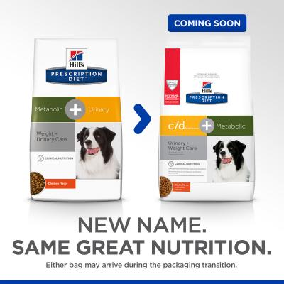 Hills Prescription Diet Canine Metabolic + Urinary Weight Plus Urinary Care Chicken Dry Dog Food 3.85kg  (603823)