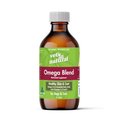 Vets All Natural Omega Blend Oil Skin And Coat Nutritional Supplement For Dogs And Cats 200ml