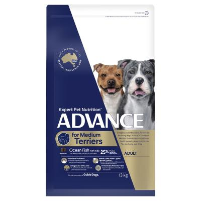 Advance Ocean Fish With Rice Medium Breed Terriers Adult Dry Dog Food 13kg