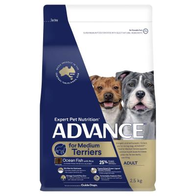 Advance Ocean Fish With Rice Medium Breed Terriers Adult Dry Dog Food 2.5kg