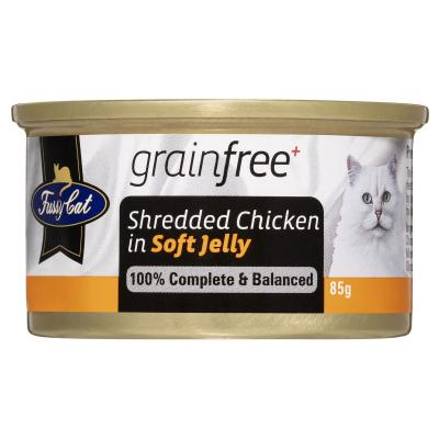 Fussy Cat Shredded Chicken In Soft Jelly Adult Canned Wet Cat Food 85gm x 24