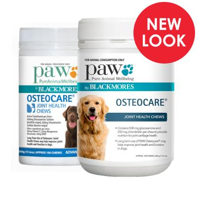 PAW By Blackmores Osteocare Joint Health Chews For Dogs 2 x 500gm