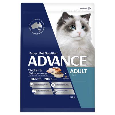 Advance Chicken And Salmon With Rice Adult 1-8yrs Dry Cat Food 6kg