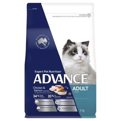 Advance Chicken And Salmon Adult 1-8yrs Dry Cat Food 3kg