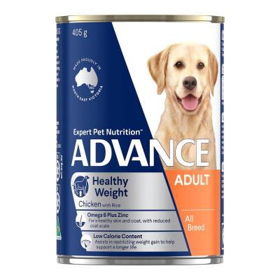 Advance Weight Control Chicken With Rice All Breed Adult Canned Wet Dog Food 405g x 12
