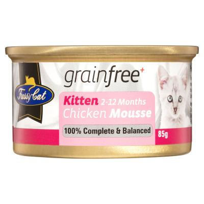 Fussy Cat Chicken Mousse Kitten Canned Wet Cat Food 85gm x 24