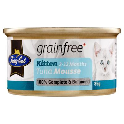 Fussy Cat Tuna Mousse Kitten Canned Wet Cat Food 85gm x 24