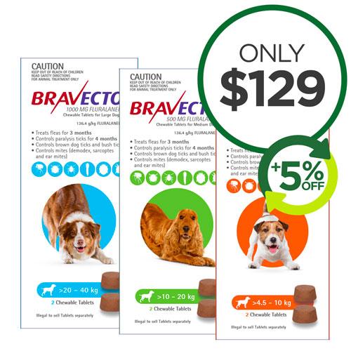 Bravecto Chew 4 Packs