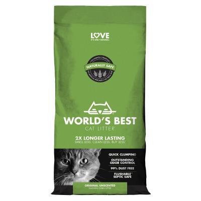 Worlds Best Original Unscented Corn Clumping Litter For Cats 3.18kg