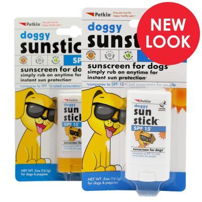 Petkin Doggy Sunscreen Sun Stick SPF15 Vanilla Coconut For Dogs 14.1g