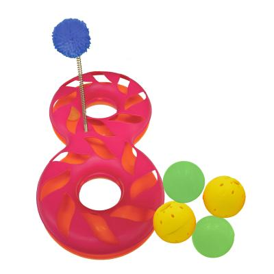 Scream Orb Ball Round A Bout Pink Orange Chase Toy With 4 Extra Orb Balls For Cats