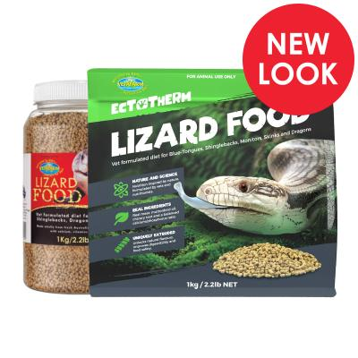 Vetafarm Lizard Vet Formulated Food For Skinks Dragons Monitors Lizards 1kg