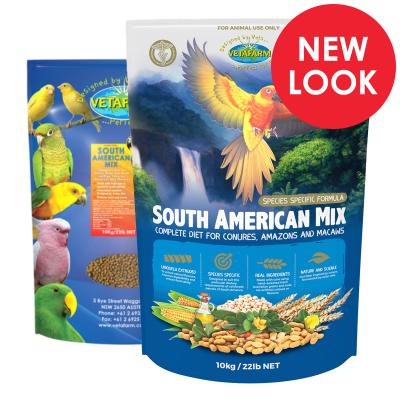 Vetafarm South American Mix Complete Food For Conure Amazon Macaw Birds 10kg