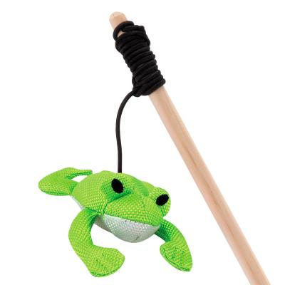 Beco Frankie The Frog Eco Friendly Catnip Interactive Wand Toy For Cats