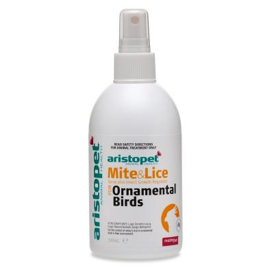 Aristopet Mite And Lice Spray Plus For Birds 250ml