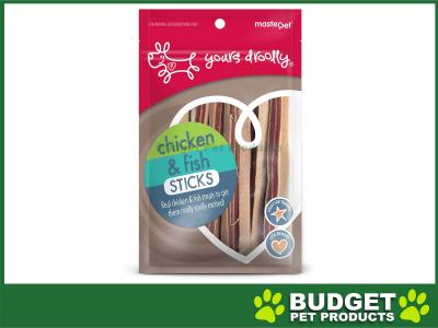 Yours Droolly Chicken and Fish Sticks Treats For Dogs 100gm