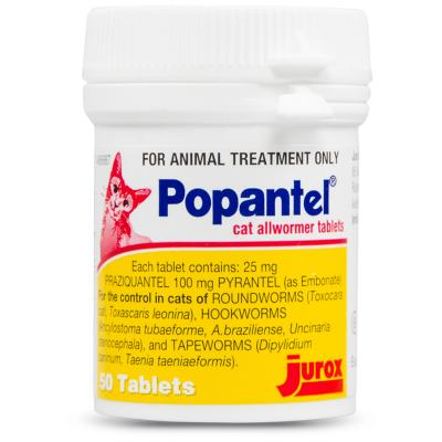 Popantel Allwormer For Cats 50 Tablets