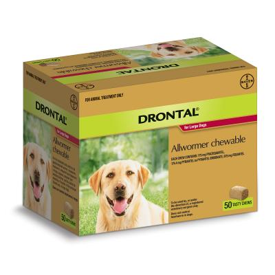 Drontal Allwormer For Dogs Large Up To 35kg 50 Chews