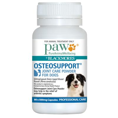 PAW By Blackmores Osteosupport Joint Care Powder For Dogs 80 X 500mg Capsules