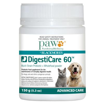 PAW By Blackmores DigestiCare 60 Multi-Strain Probiotic 150gm