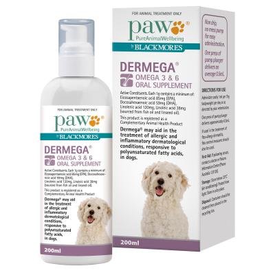 Paw By Blackmores Dermega Omega 3 & 6 Oral Supplement 200ml