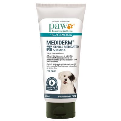 Paw By Blackmores Mediderm Gentle Medicated Shampoo For Dogs 200ml