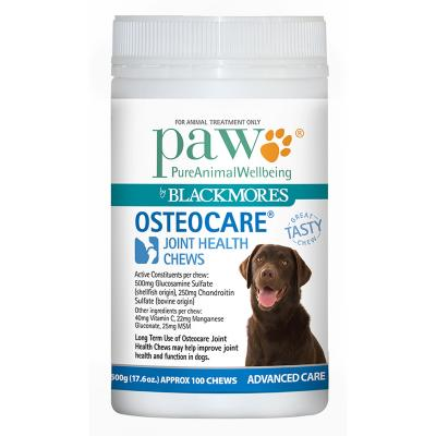 PAW By Blackmores Osteocare Joint Health Chews 500gm