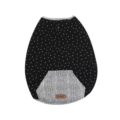 Kazoo Lamington Reversible Snuggle Dog Coat Black/White Intermediate 53cm