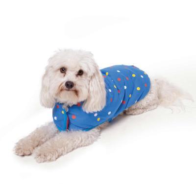 Kazoo Sprinkles Reversible Snuggle Dog Coat Red/Blue XSmall 33.5cm