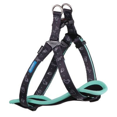 Kazoo Funky Nylon Walking Harness Doodles Large/XLarge 77-99cm x 25mm For Dogs
