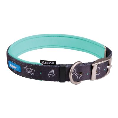 Kazoo Funky Nylon Collar Doodles 55cm x 20mm Large For Dogs